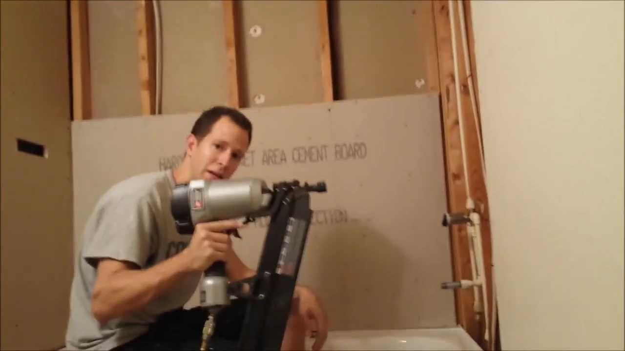 Installing cement board for bathtub surround - YouTube