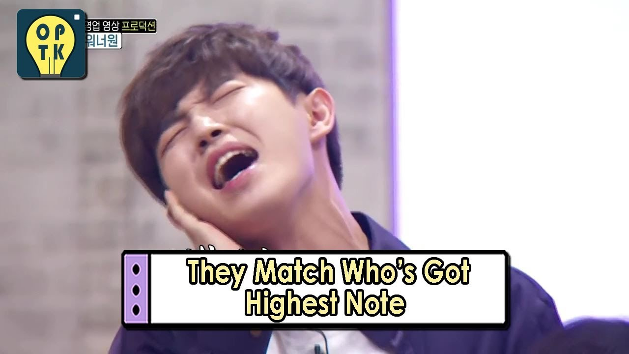 [Oppa Thinking – Wanna One] They Matches Who's Got Highest Note 20170911