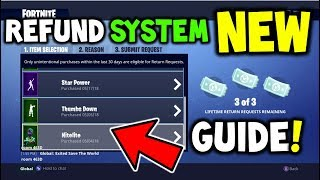 HOW TO USE THE *NEW V.4.3* REFUND SYSTEM FOR V-BUCKS! (REFUND ALL ITEMS FORTNITE FOR FREE V-BUCKS)