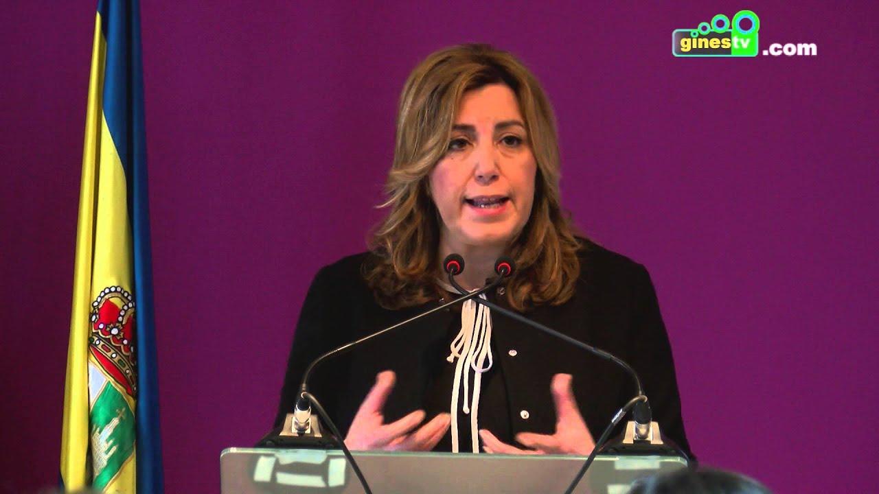 Visita a Gines de Susana Díaz, Presidenta de la Junta de Andalucía