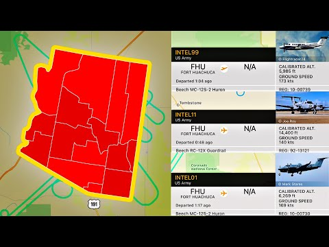 SPY AIRPLANES over Arizona?... YEP!