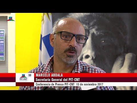 Marcelo Abdala Conferencia de Prensa PIT-CNT