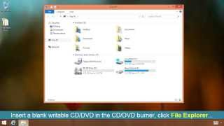 How To Burn a CD or DVD on Windows 8