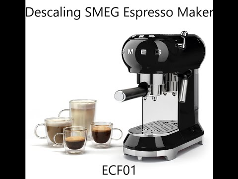 How to descale SMEG ECF01 Espresso Coffee Maker - Tutorial