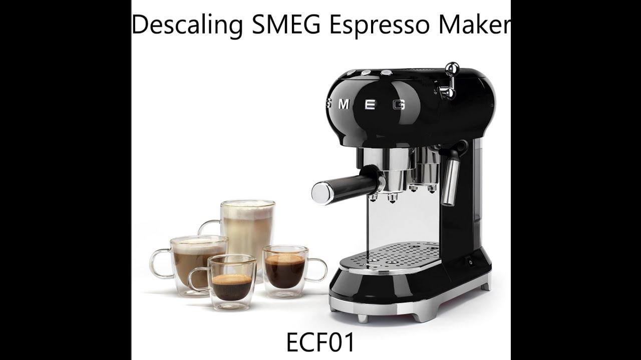 How To Descale Smeg Ecf01 Espresso Coffee Maker Tutorial Youtube