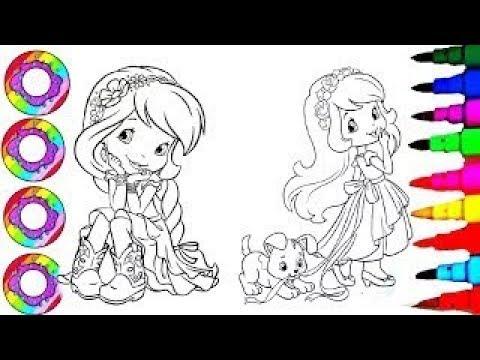Coloriage Dessiner Charlotte aux Fraises - Coloring Drawing Pages Strawberry Shortcake Sparkle Hair