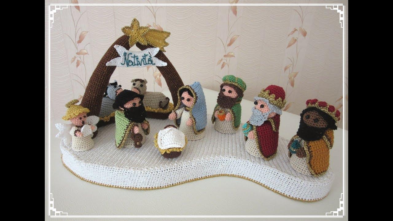 Amigurumi Nativity Español : Presepe uncinetto crochet nativity youtube