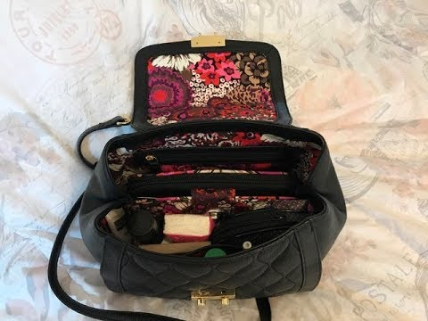 What's in my Vera bradley Quilted Mini Stella Satchel Bag