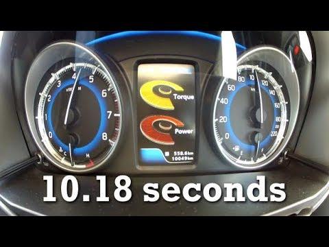 2017 Suzuki Baleno 1.4 (92hp) 0-150kmh 90mph with Racelogic data