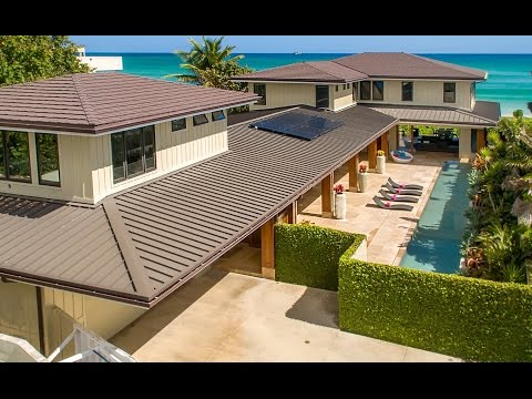 Luxury Beachfront Property For Sale on  Kailua Beach - 16 Namala Pl