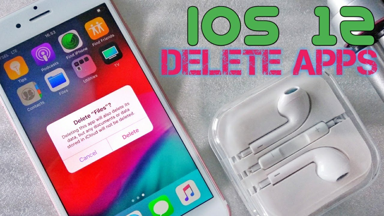 Delete APPS on iOS 12 Rather different