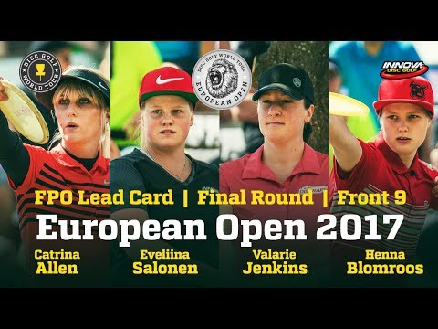 European Open 2017 FPO Lead Card Final Round Front 9