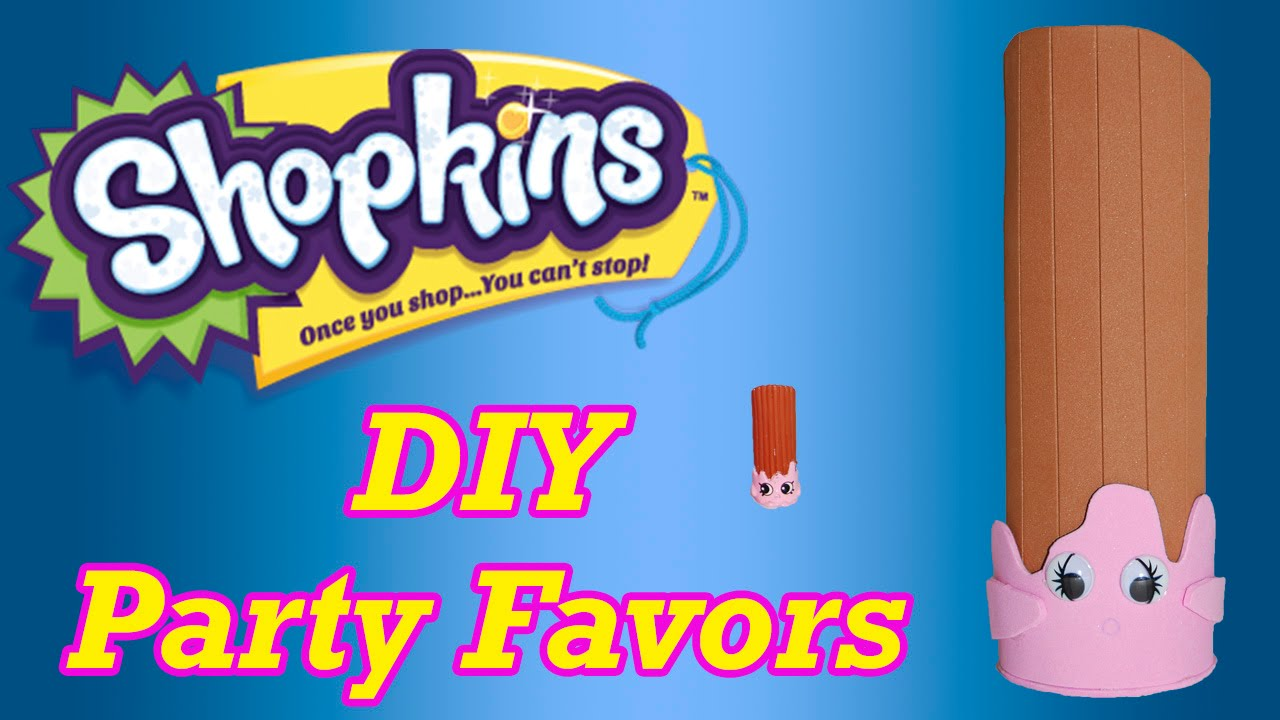 DIY How to Make Shopkins Birthday Party Favors Cheery Churro Cake