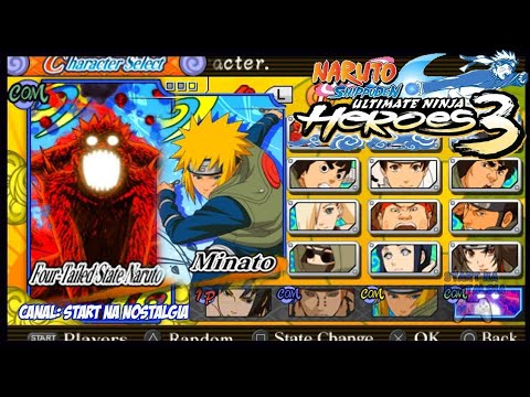 How To Unlock All Characters. Naruto Ultimate Ninja Heroes 3 Ppsspp For Andoid