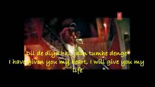 Dil De Diya He english translation