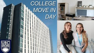 COLLEGE MOVE IN DAY VLOG || UBC  (moving my sister into her freshman dorm!)