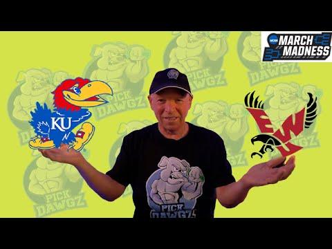 Kansas vs Eastern Washington 3/20/21 Free College Basketball Pick and Prediction NCAA Tournament