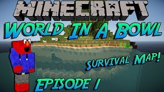 Minecraft World In a Bowl-Episode 1- Trapped In A Bowl!