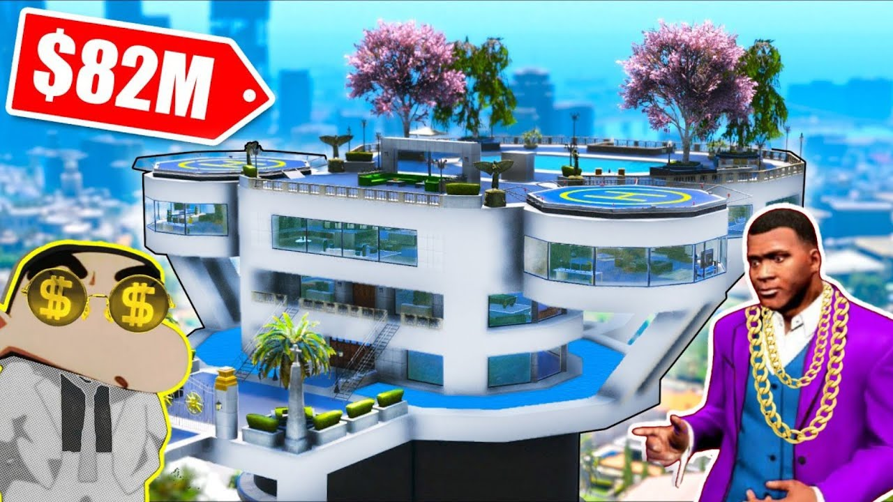 Download SHINCHAN and FRANKLIN Buying * $82 Millions dollar* Secret LUXURY HOUSE In gta 5 [GTA 5 MODS]
