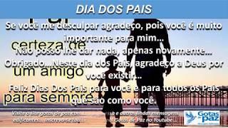 DIA DOS PAIS(ÁUDIO) - GOTASDEPAZ - MENSAGENS EDIFICANTES
