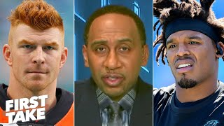 Stephen A. likes Andy Dalton over Cam Newton to replace Tom Brady on the Patriots   First Take