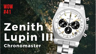 The zenith chronomaster revival lupin third chronograph is latest luxury wrist watch presented by zenith. in this video i go over basic informations ...