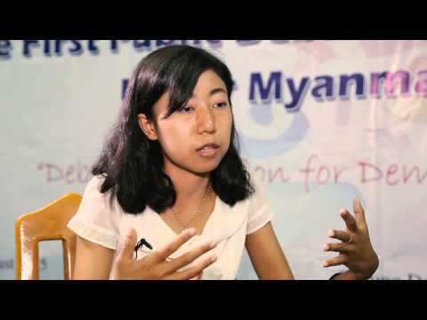 Building independent debate among young people in Myanmar