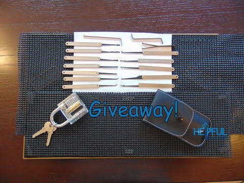 [59] 700 Subscriber Beginner Lock Pick Set Giveaway with a Clear Padlock!!!