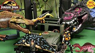 New 3 Jurassic Park Dino Trackers Tyrannosaurus Rex Vs Ground Patrol, Spinosaurus Vs Marine Patrol