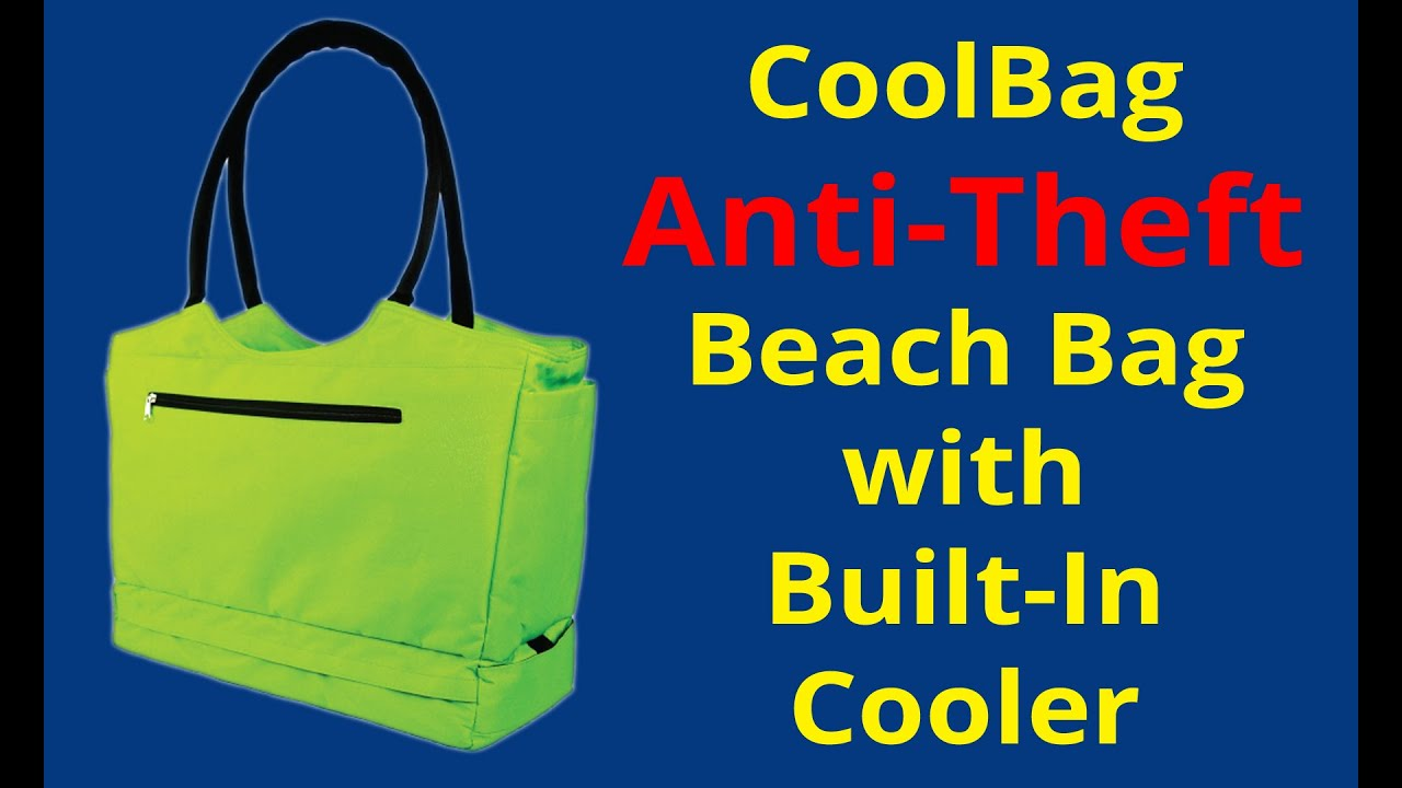 Cool Bag Locking Travel Beach Tote And Anti Theft