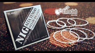 NIG® Cuerdas Guitarra Nylon 6 Cuerdas N410 Tensión Alta 29-44 Extra : 1 Cuerda (4ta) y 1 Uñeta video