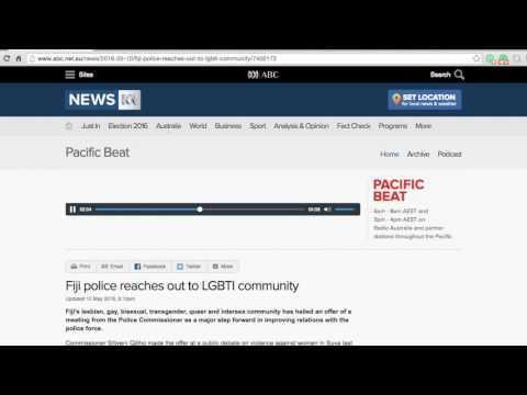 Fiji police reaches out to LGBTI community (Radio Australia)