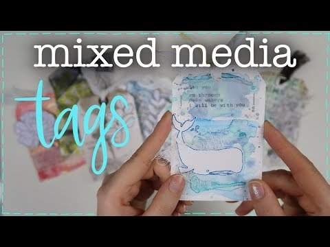 TAGS con TÉCNICAS MIXED MEDIA │ Llueve Tags
