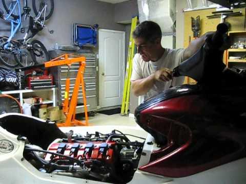 First start after engine rebuild Honda Aquatrax F12X