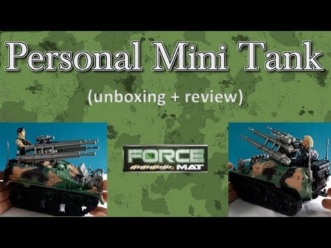 Force Mat personal mini tank, 1:18 scale military mini-rig (unboxing + review).