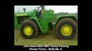 John Deere 8020 Tractor Plowing