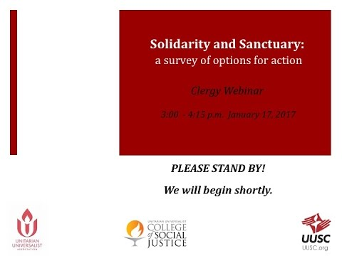 Solidarity and Sanctuary: A Survey of Options for Action  (for clergy)