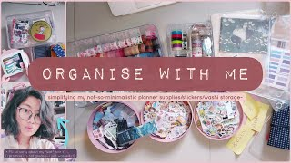 Download 🤍 Organise with me: Simplifying my not-so-minimalistic planner supplies/stickers/washi storage~ ✨