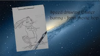 speed drawing  Easter bunny from movie hop