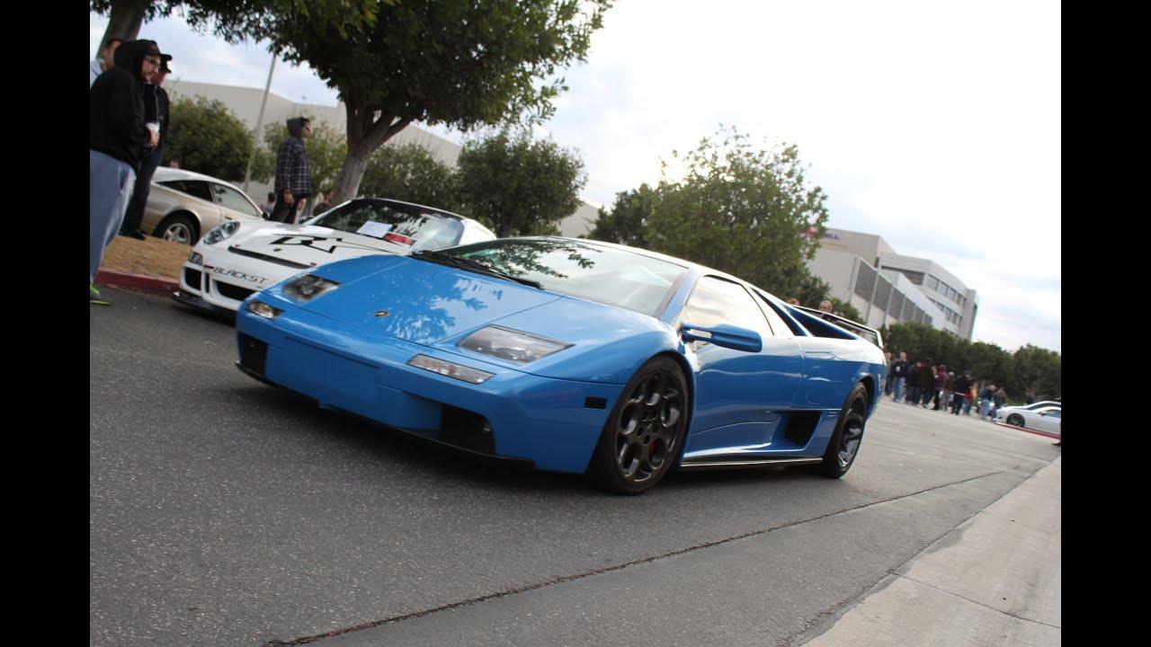 Unique And Rare Blue Lamborghini Diablo 6 0 Vt Loud Start