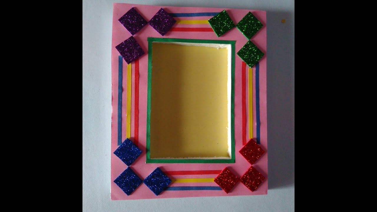 How to make hand made photo frame|| beautiful photo frame - YouTube