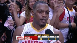 Best Player: Justin Brownlee   PBA Commissioner's Cup 2018