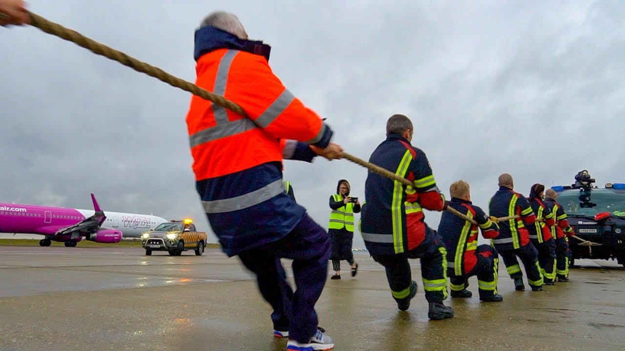 London Luton Airport: Pull a Fire Appliance charity fundraiser