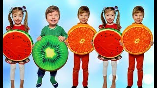 Five little babies jumping on the bed song Rinat play with fruits
