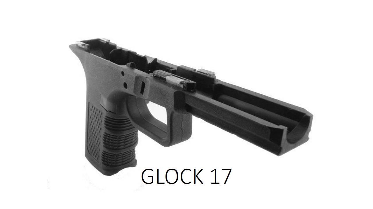 homemade glock 17 frame from aluminium - YouTube