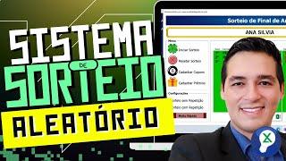 Planilha Sorteio Aleatório 13.0 Plus+ (com importação de cupons)