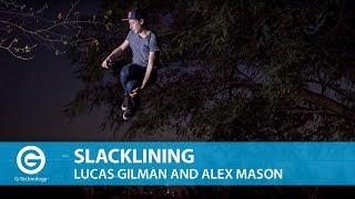 Slacklining with Lucas Gilman and Red Bull Athlete Alex Mason