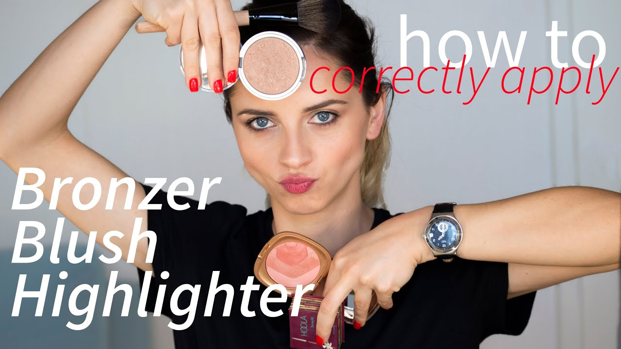 How to correctly apply bronzer blush and highlighter mila youtube ccuart Images