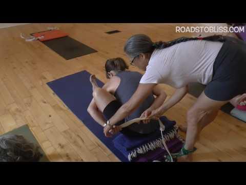 Marichyasana 1 with Rebecca Lerner, Senior Intermediate Iyengar Yoga Teacher