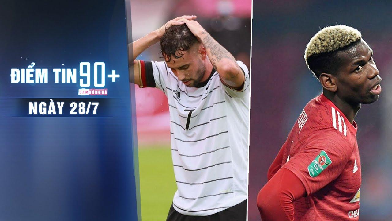 Điểm tin 90+ ngày 28/7 | U23 Đức bị loại ngay từ vòng bảng; Pogba từ chối gia hạn HĐ với M.U